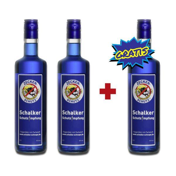 """3 x 0,7 l Flasche """"Zeckenschutz gegen Borusseliose"""" Drie haal twee betaal"""
