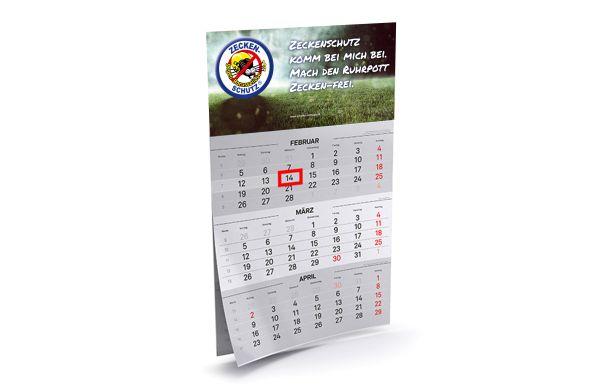 2021 3-Monatskalender mit Datumsweiser