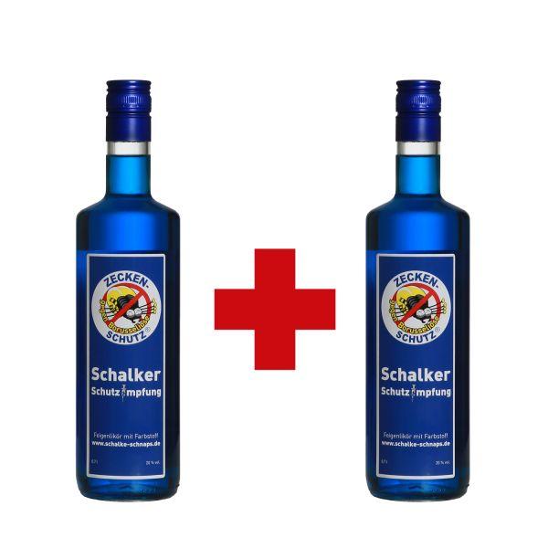 """Doppeldröhnung 2 x 0,7 l Flasche """"Zeckenschutz gegen Borusseliose"""""""