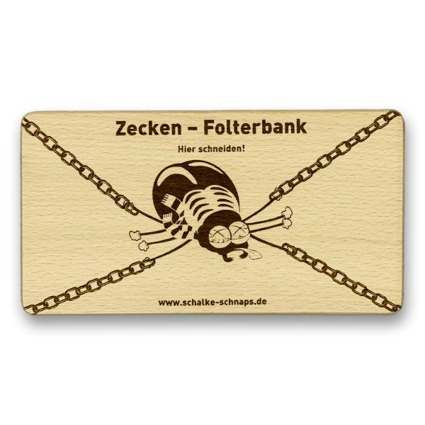 """Frühstücksbrettchen """"Zecken-Folterbank"""""""